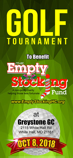 2018 Golf Tournament For The Empty Stocking Fund Banner